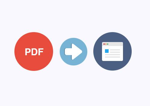 Comment convertir un PDF en page Web sur windows