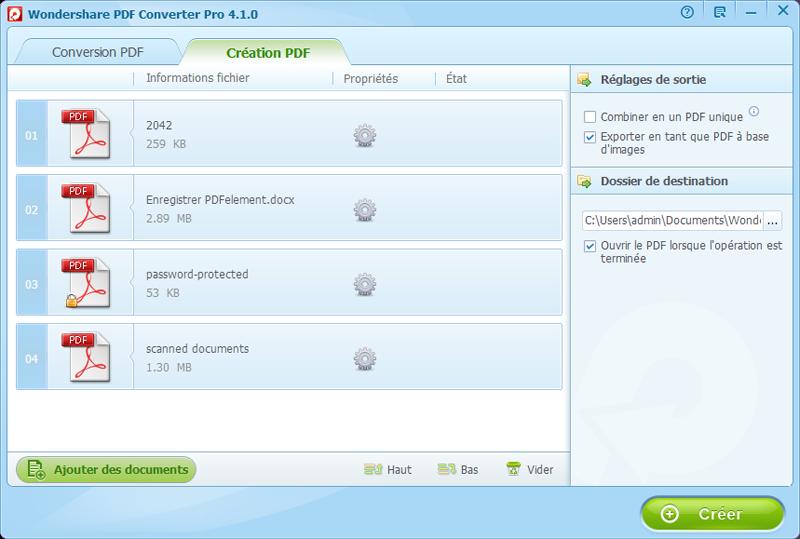 exporter fichiers en image pdf