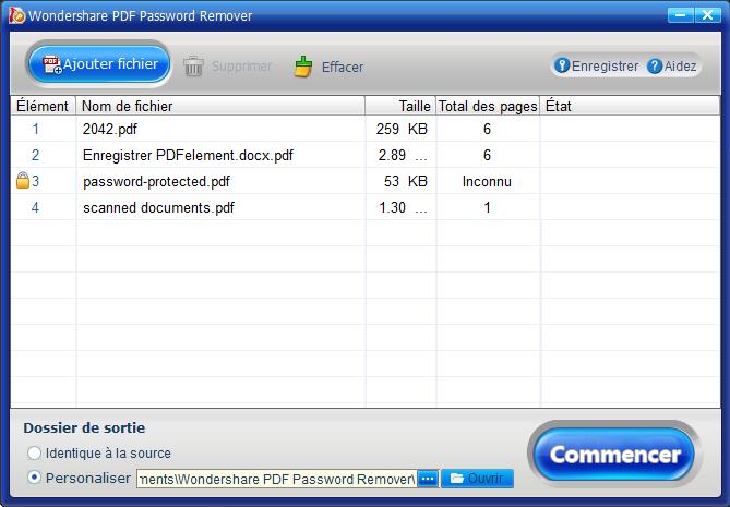 Modifier un pdf sécurisé