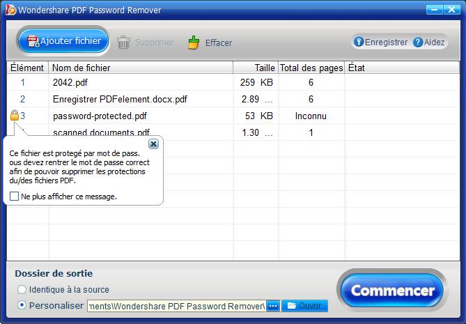 supprimer décryptage pdf