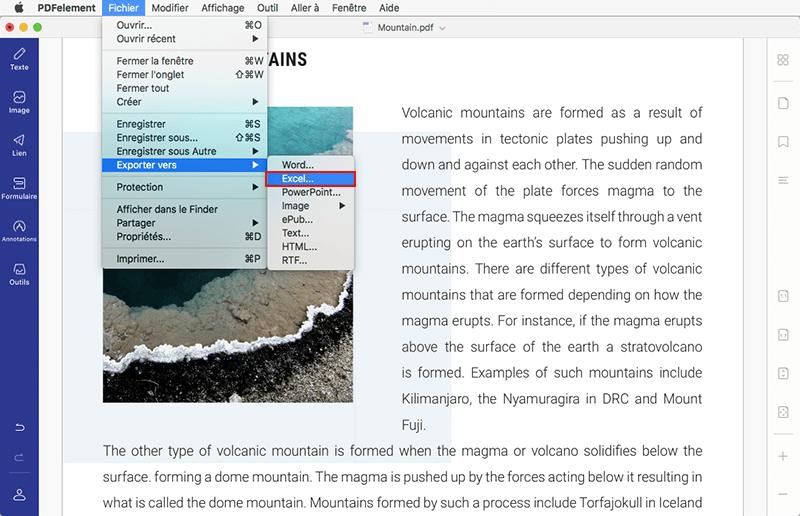 fichier pdf en html mac