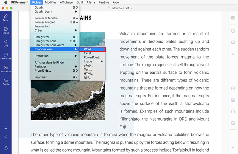 comment convertir pdf en EPUB mac