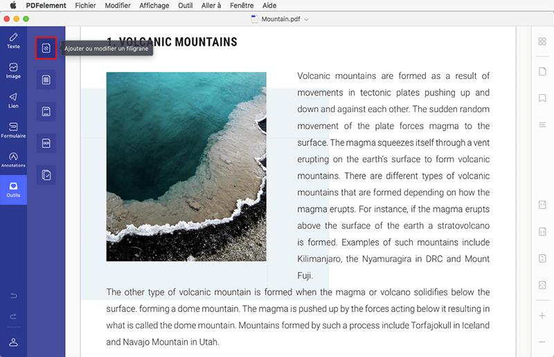 ajouter filigrane à pdf sur mac