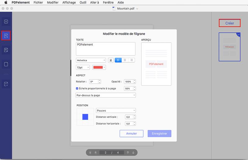 comment ajouter filigrane à pdf sur mac
