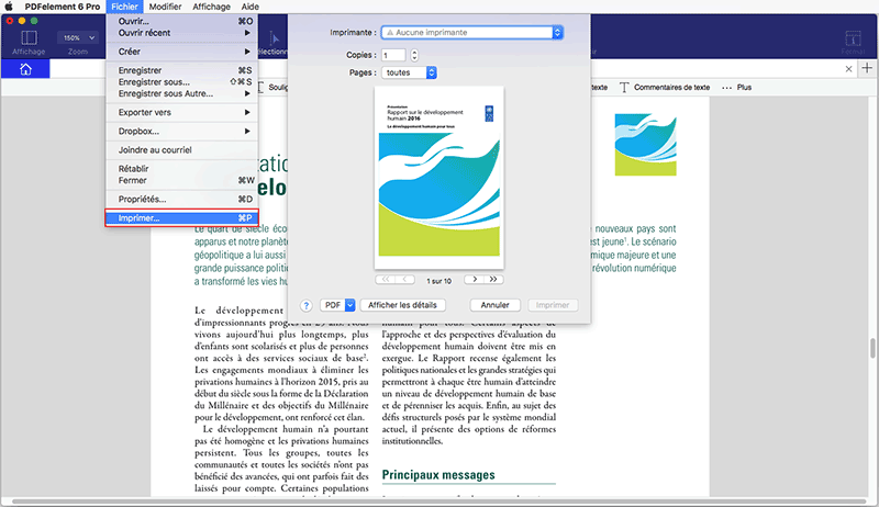 imprimer pdf sur ipad