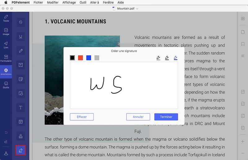 signer un pdf sur mac