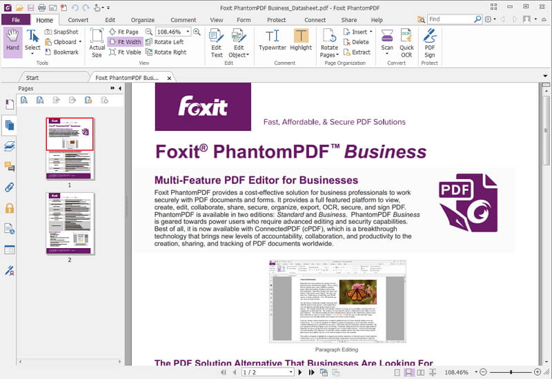 pdf bearbeiten mit Foxit PhantomPDF