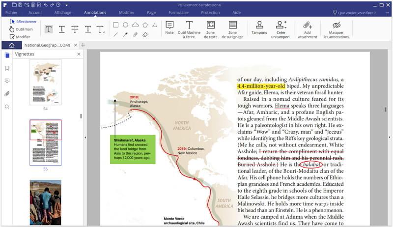edition pdf avec les annotations