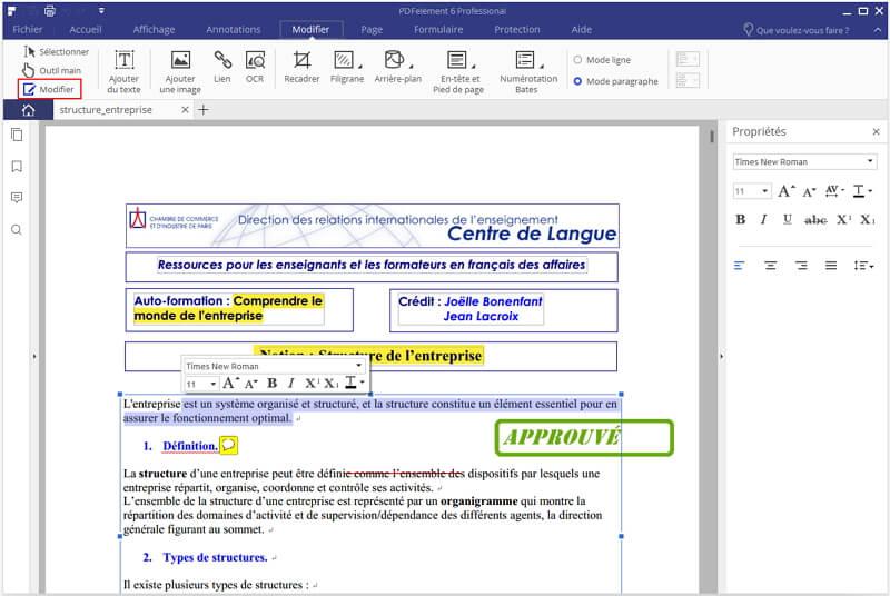 comment modifier un pdf