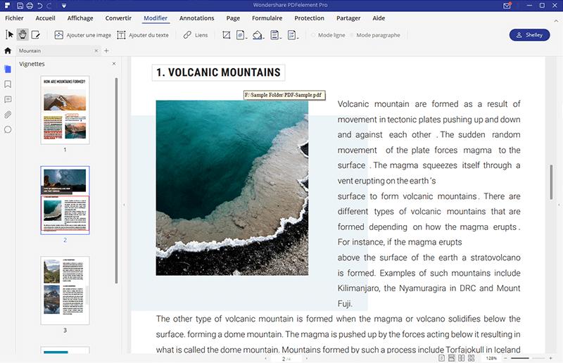 comment modifier lien sur pdf