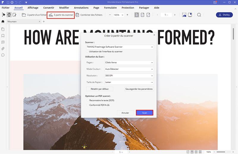 créer pdf à partir d'un imprimante