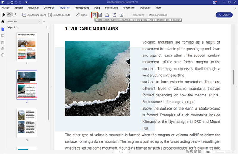 comment rogner page pdf