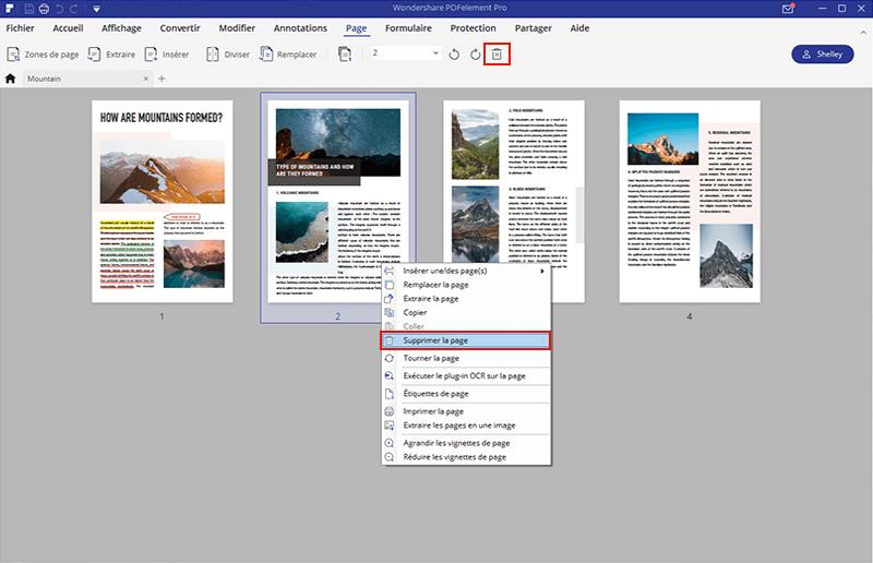 comment enlever des pages pdf