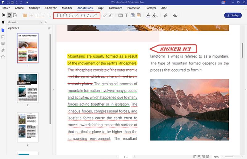 comment dessiner sur pdf