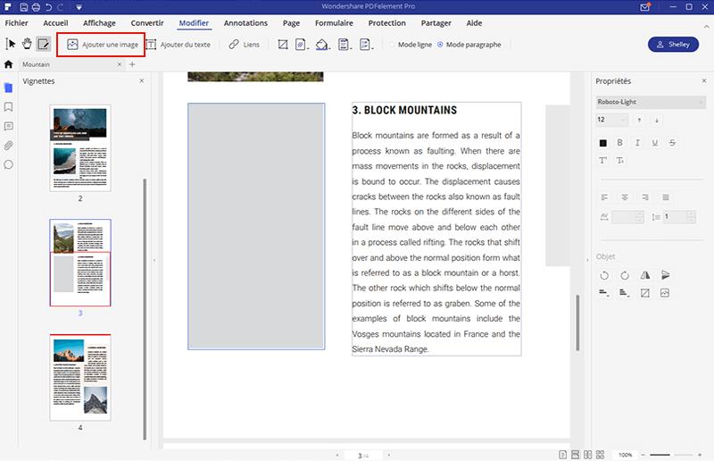 modifier image dans pdf