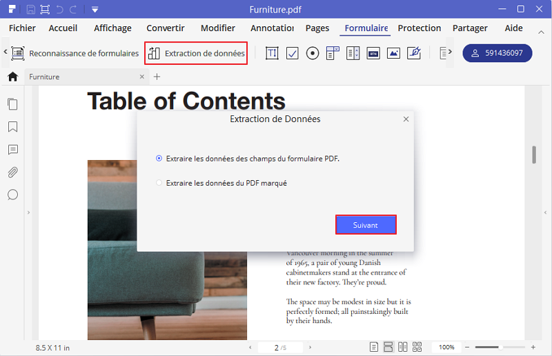 extraire tableau PDF