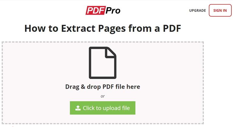 extraire des pages d'un pdf en ligne