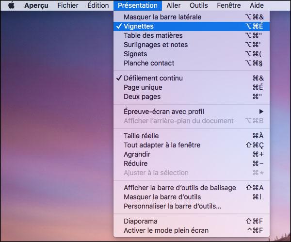 Extraire des pages d'un document PDF avec Aperçu