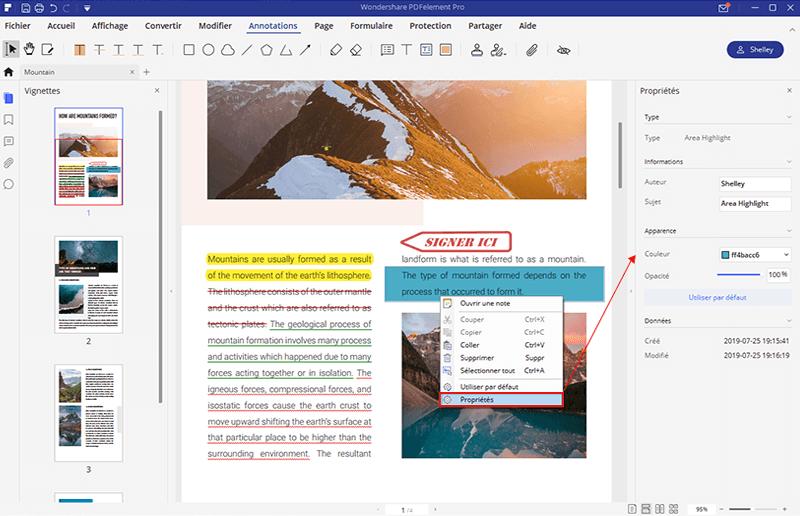 surligner pdf couleur