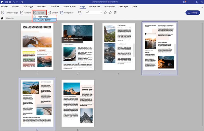 comment ajouter des pages dans un pdf