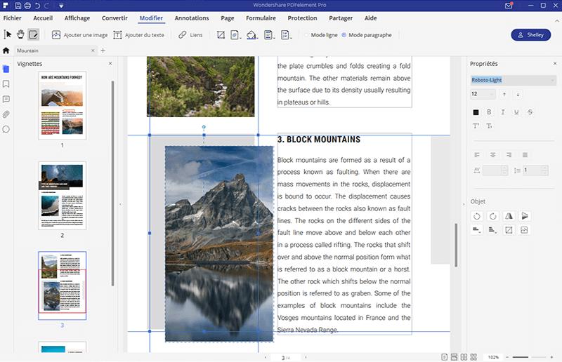 alignez des objets dans pdf