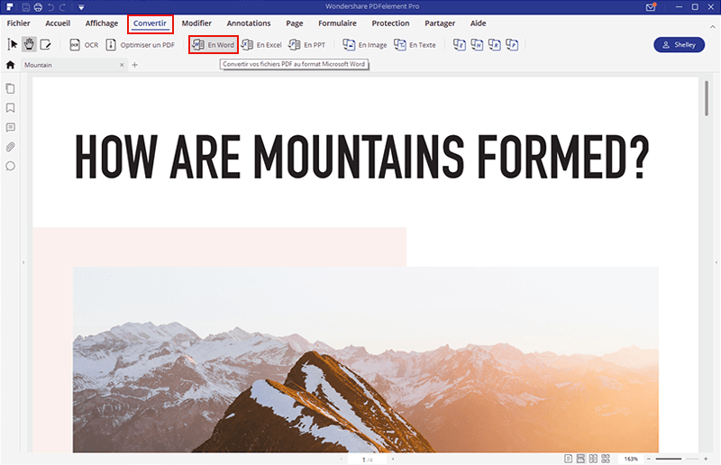 comment enregistrer pdf en word