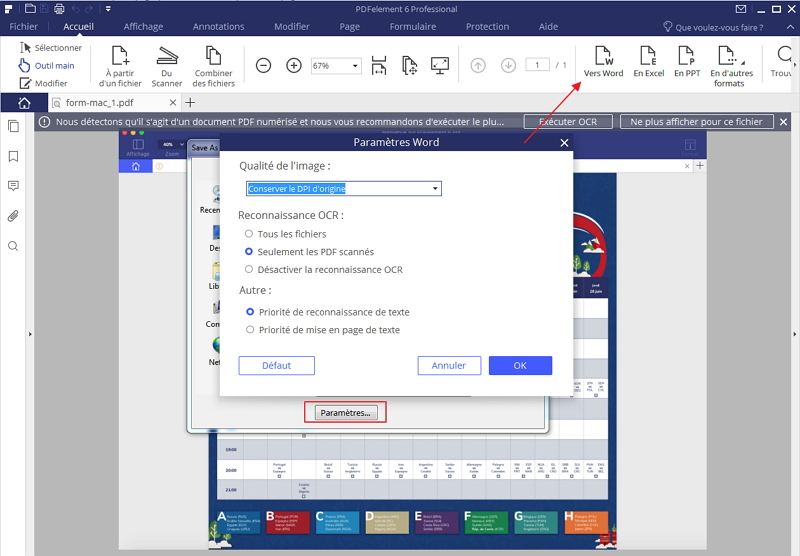 comment convertir un pdf scann u00e9 en format word