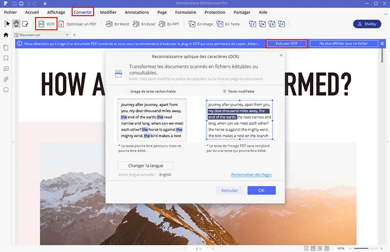convertisseur pdf scanné