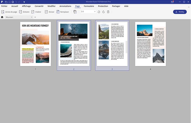 modifier les pages pdf
