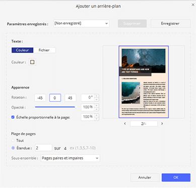 comment ajouter arrière-plan sur pdf