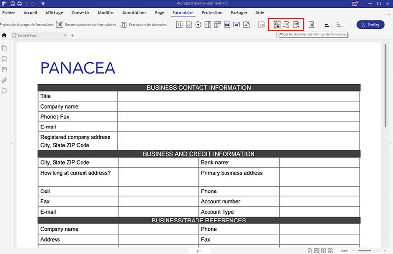 créer formulaire pdf avec pdfelement