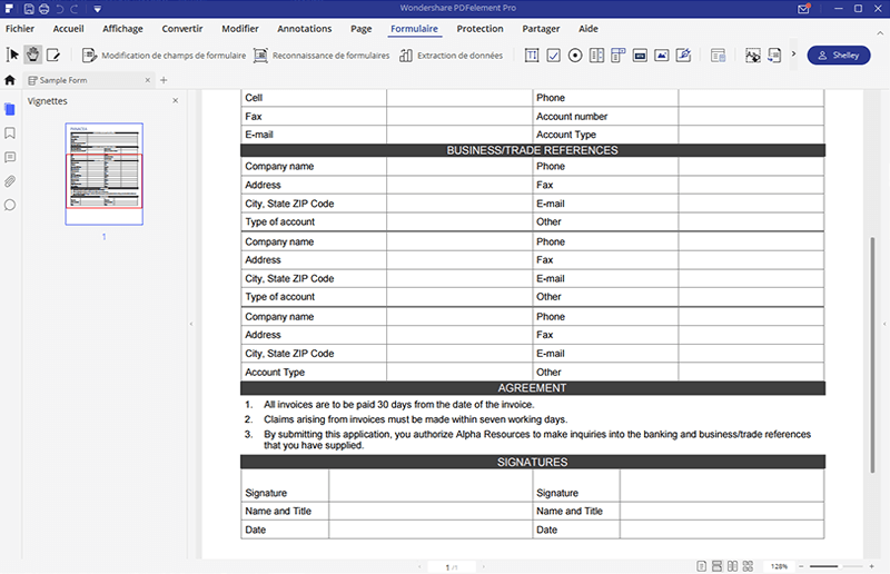 écrire sur des formulaires pdf