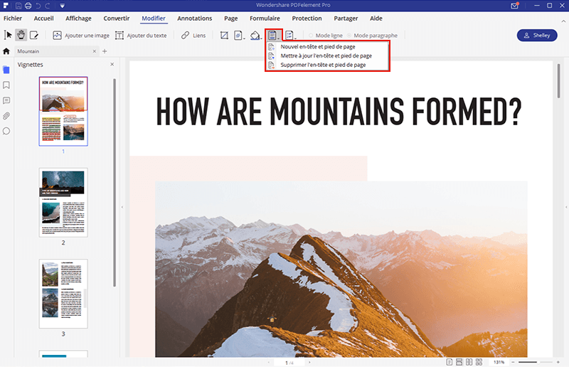 ajouter en-tête sur pdf