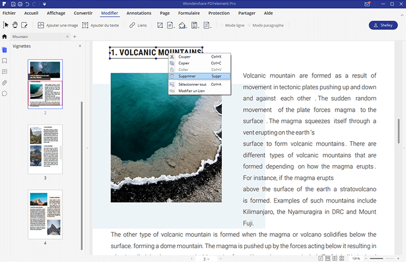 insérer lien hypertexte sur windows