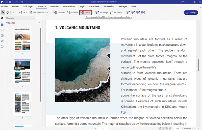 comment ouvrir un pdf en powerpoint sur windows