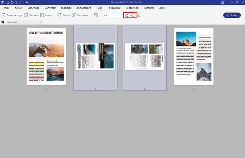 comment faire pivoter une page en pdf