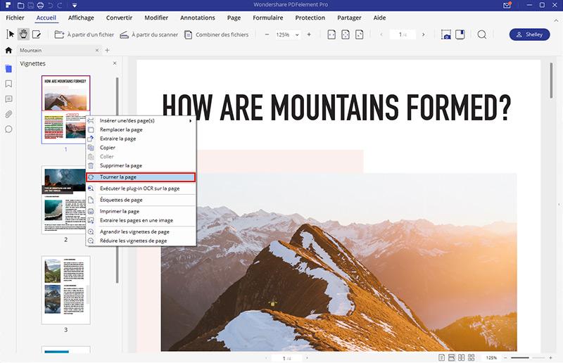comment faire pivoter un pdf