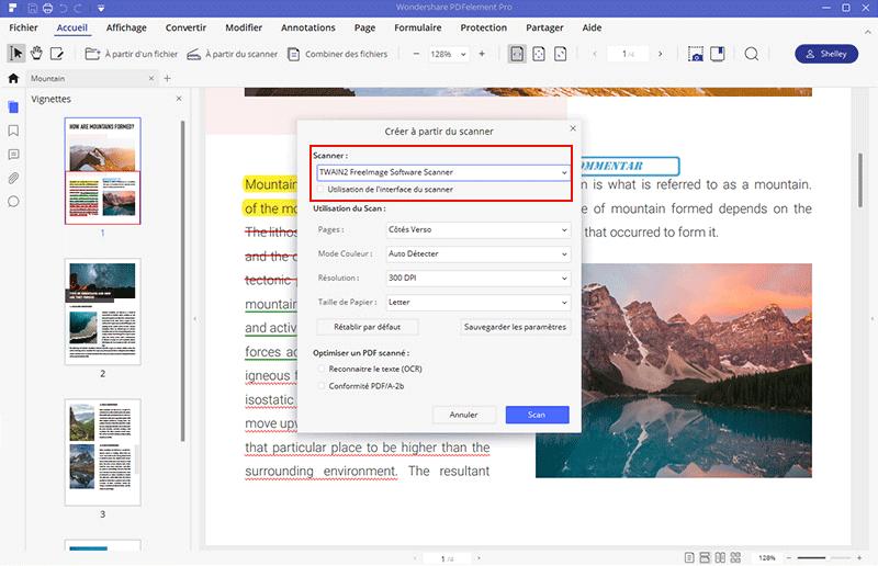 comment numériser plusieurs pages en un seul document