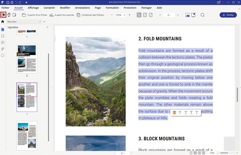 comment copier un pdf en word