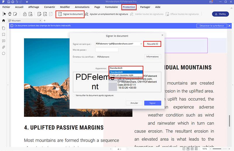 une signature sur formulaire pdf
