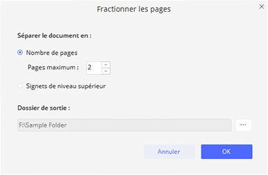 comment fractionner des pages d'un pdf sous Windows