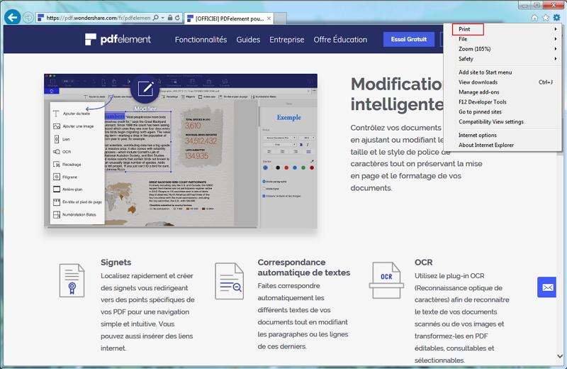 salvar página da web como pdf ie