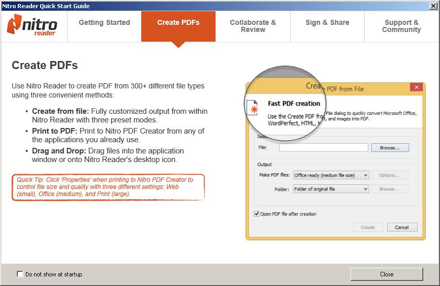 enregistrer une page web en pdf nitro