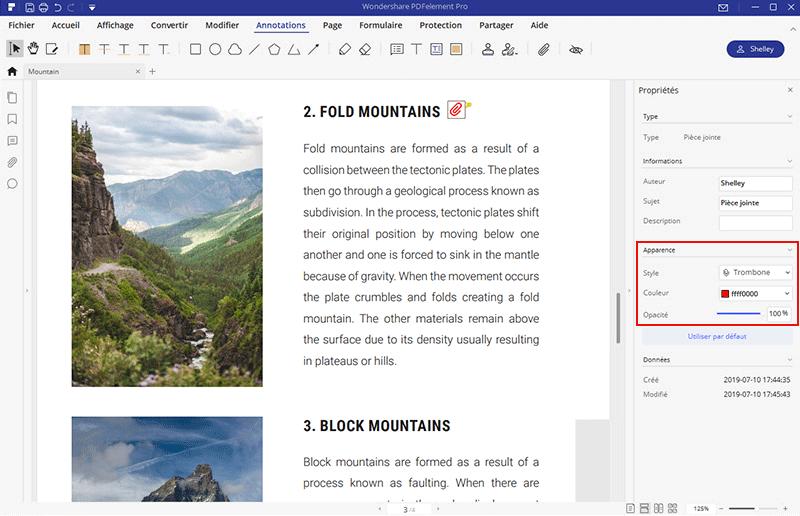 joindre documents sur pdf