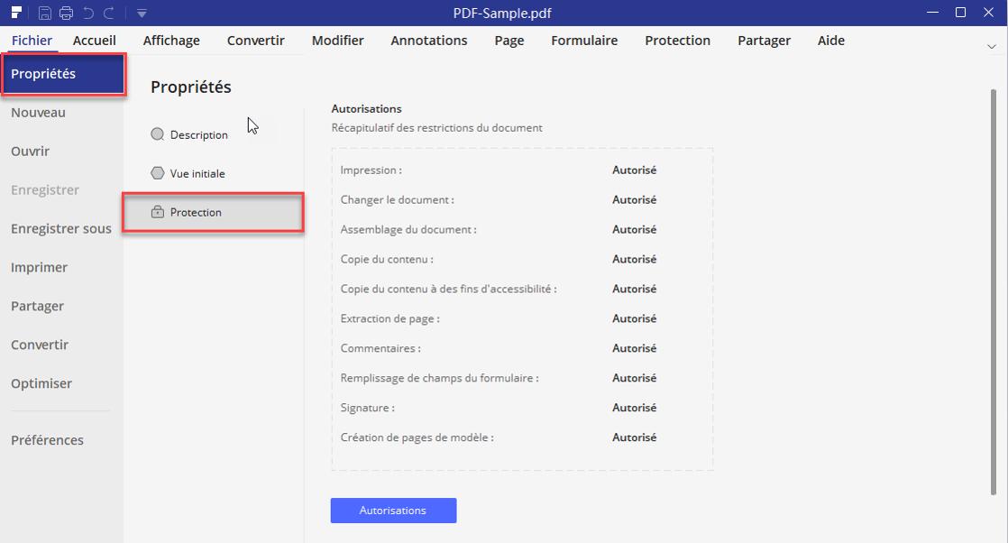 check pdf permissions