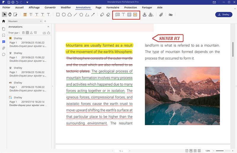 comment imprimer pdf avec commentaires
