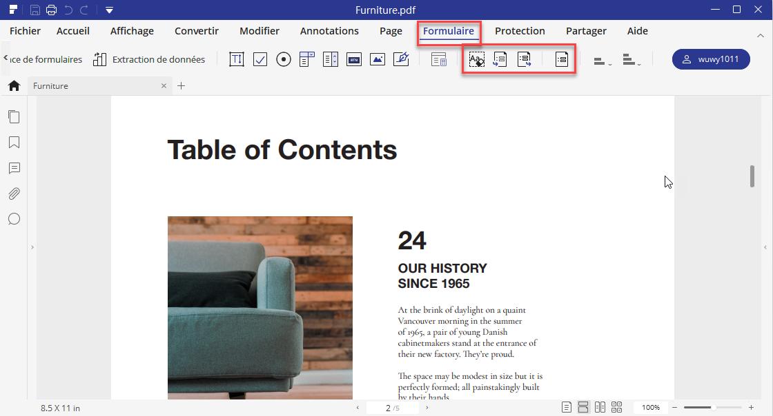 formulaires pdf en excel
