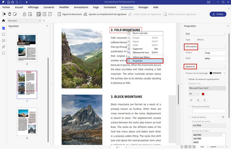redaction properties