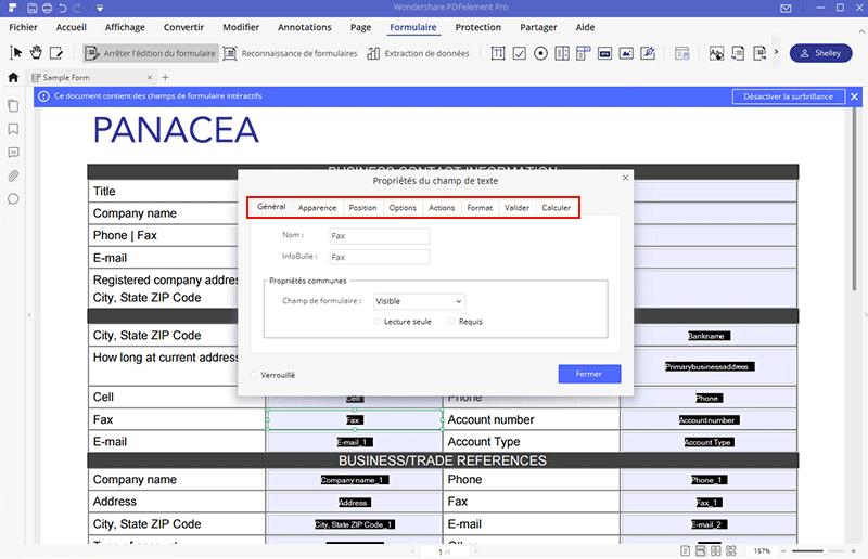 éditer formulaire pdf