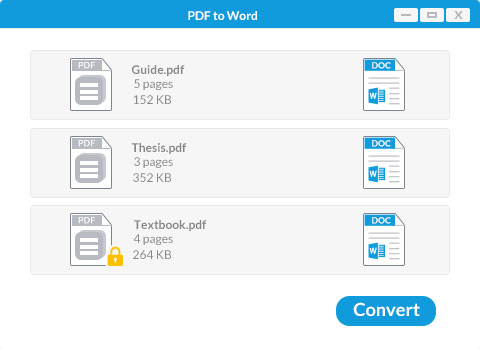 convertit des PDF en documents Word pour Windows